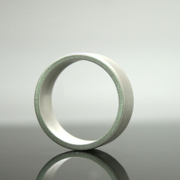 Matte Finish Sterling Wide Band Ring