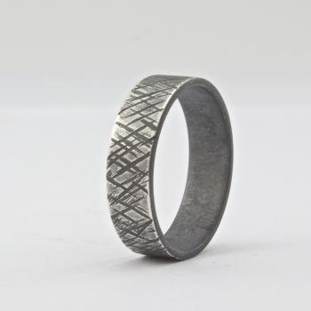 6 mm rustic wedding band