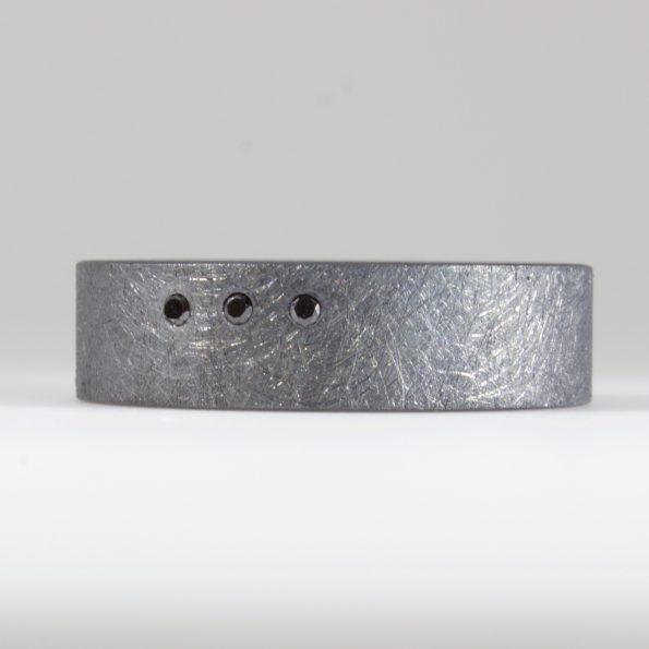 handmade black diamond ring