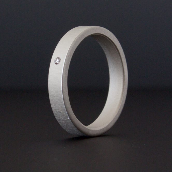 handcrafted simple wedding band