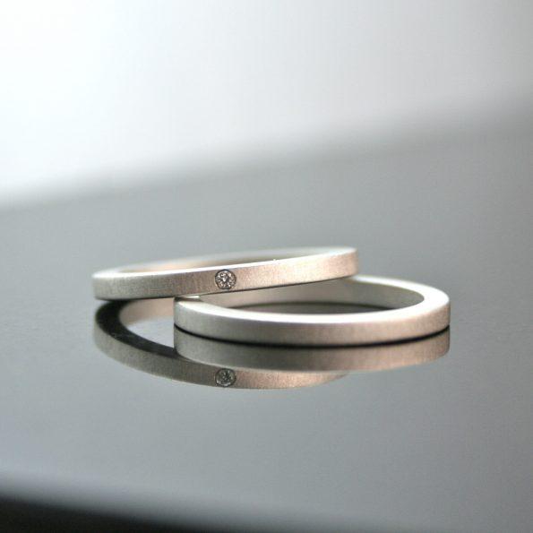handmade artisan diamond engagement ring set