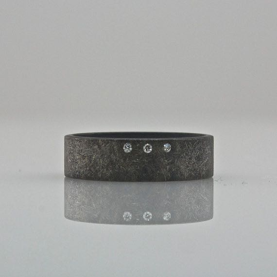 rough finish wide ring