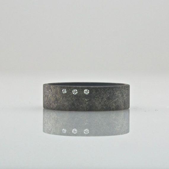 three diamond ring handmade