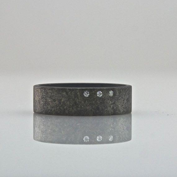 three diamond handmade ring