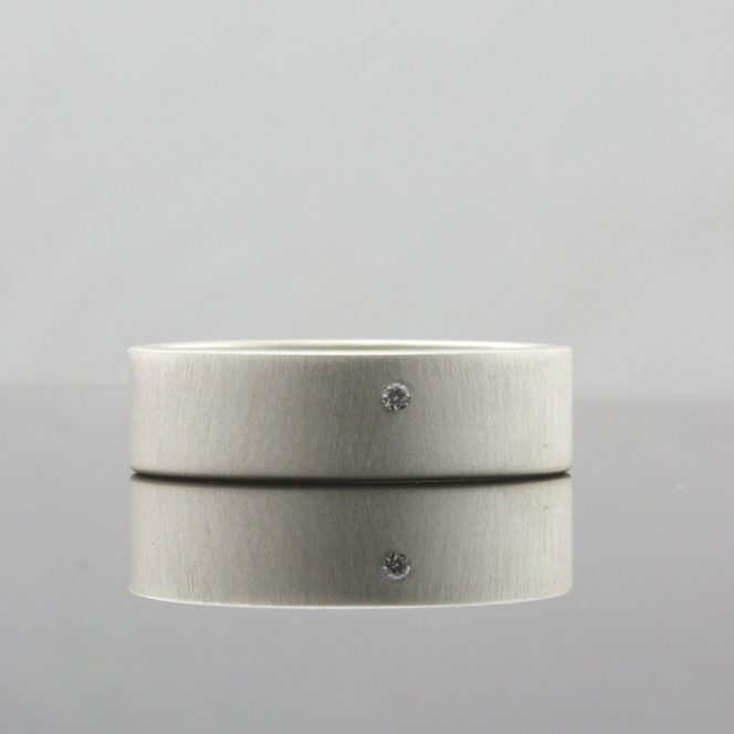 white diamond handmade ring