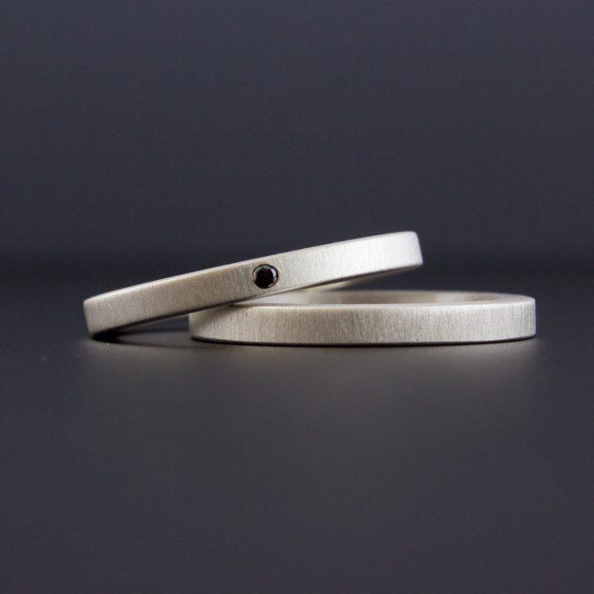 artisan black diamond ring set