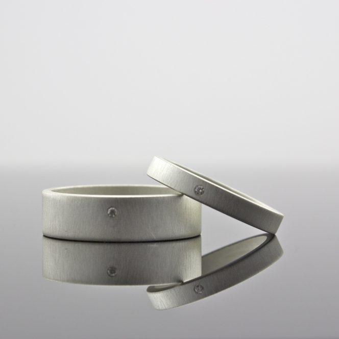 handcrafted tiny diamond rings