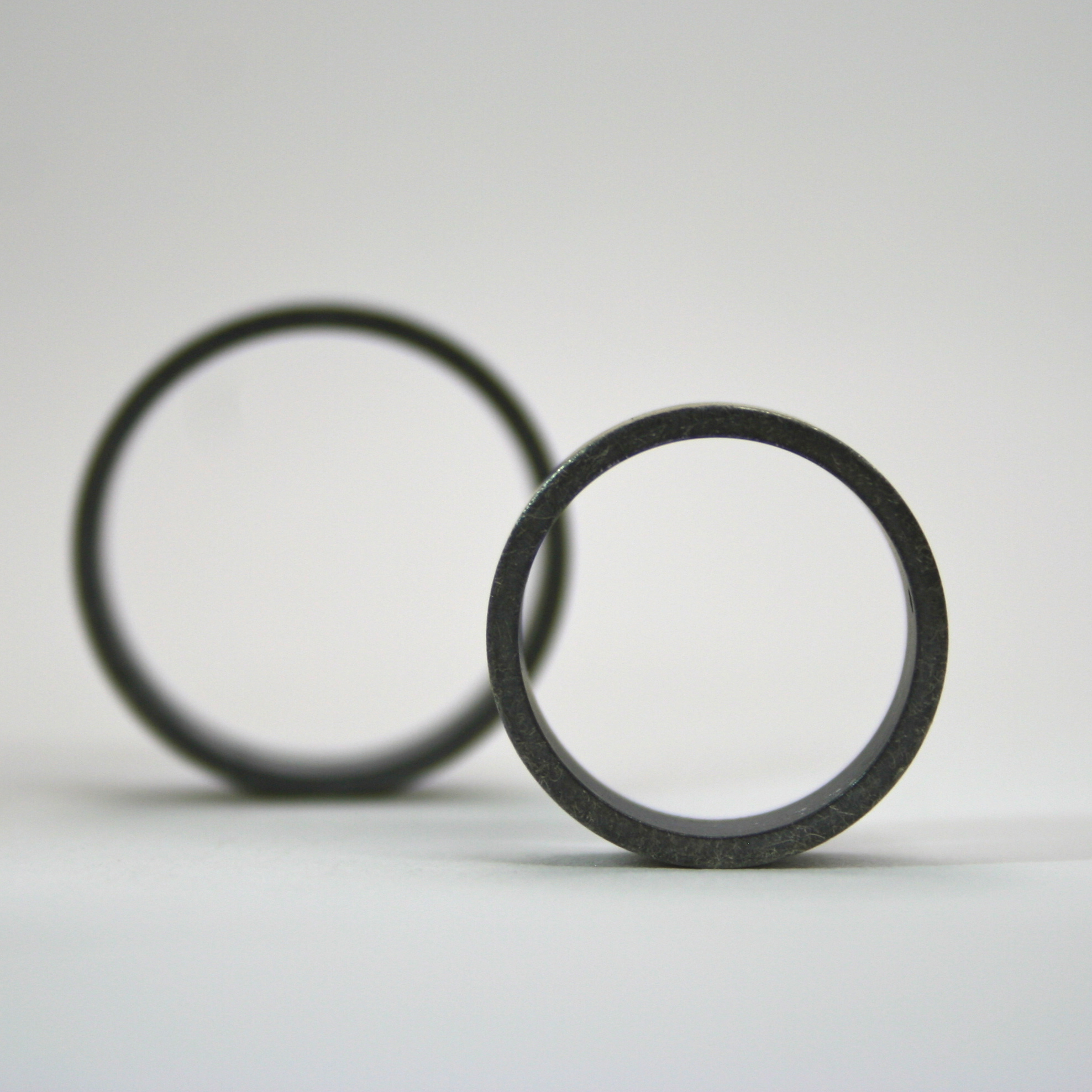 Silver Rough Finish Rings