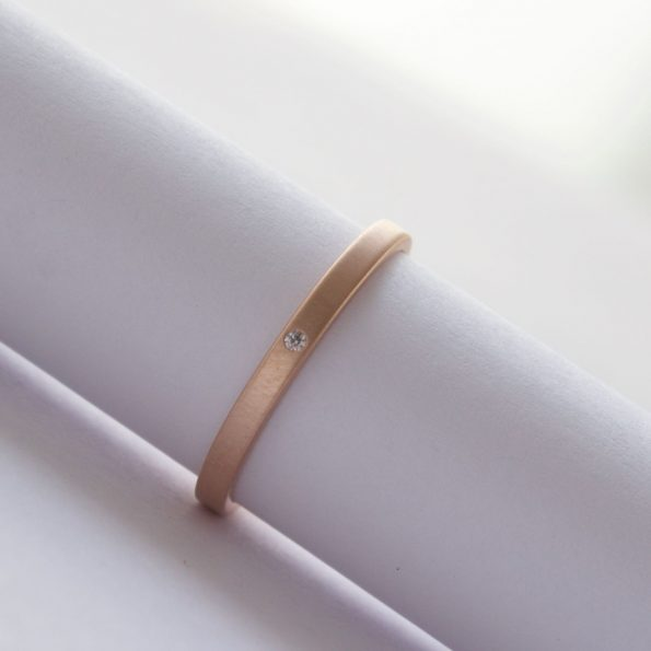handmade rose gold ring