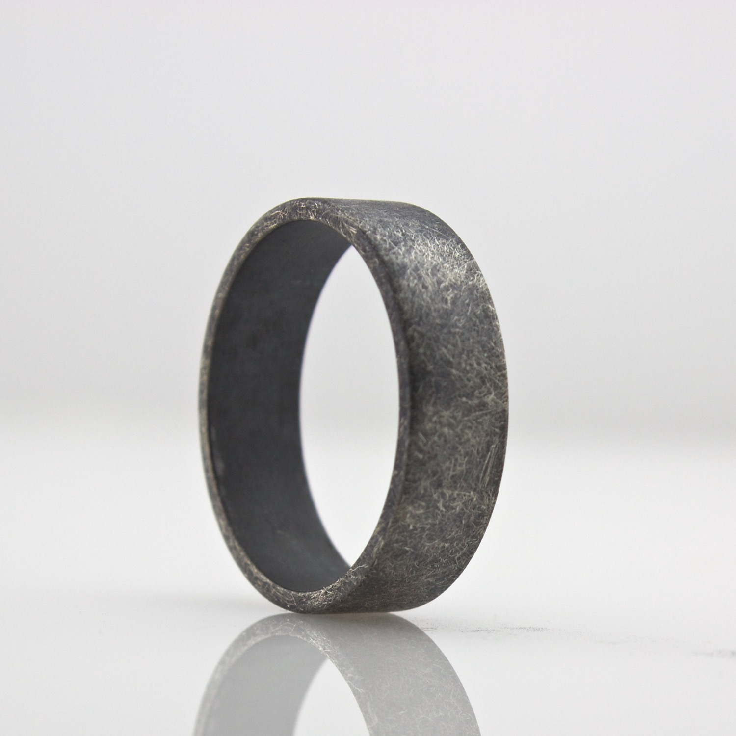 img wedding handmade rings product mens finish cocoandchia sterling rough oxidized ring band