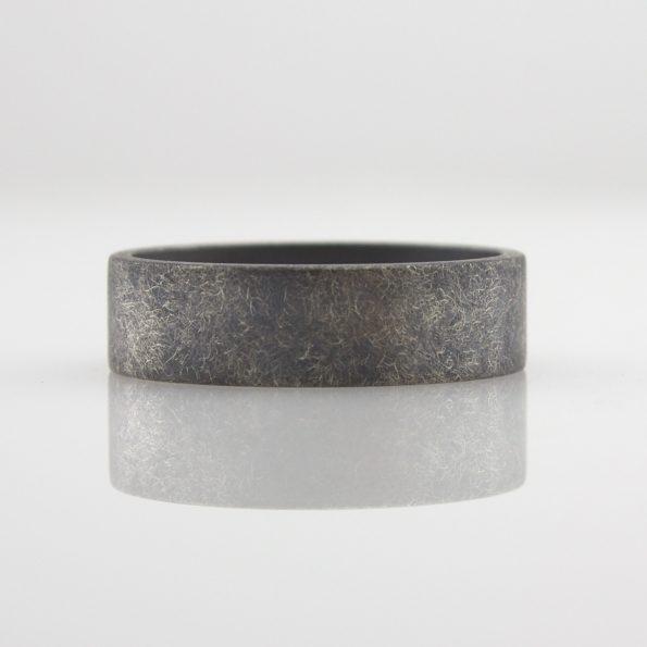 handmade rough finish ring