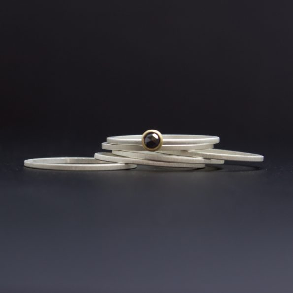 rose cut black diamond rings
