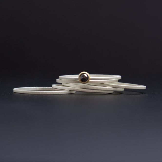 rose cut black diamond rings