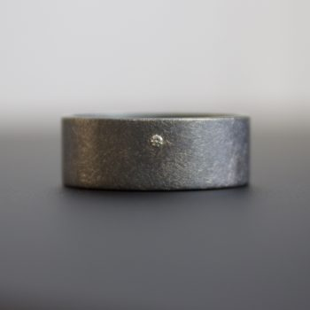 wide band ring with diamond