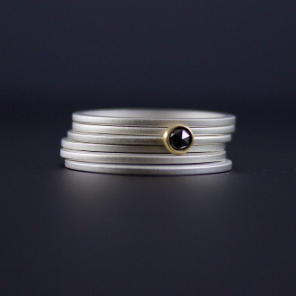 black diamond stacking rings