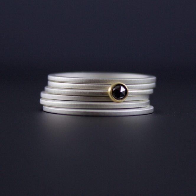 black diamond stacking rings
