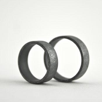rustic, simple ring set
