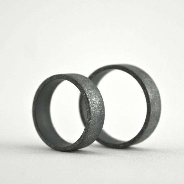 rustic, simple ring set
