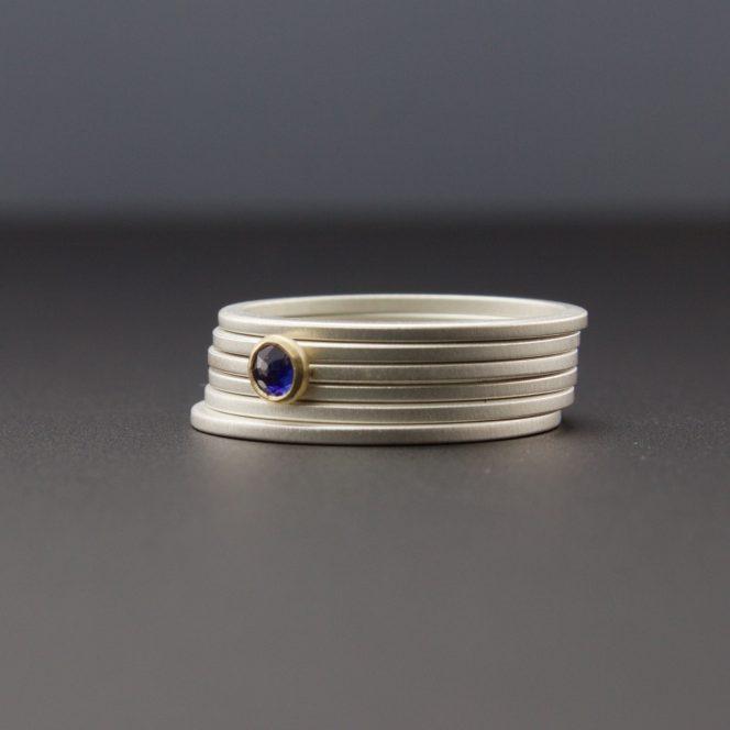 rose cut blue sapphire
