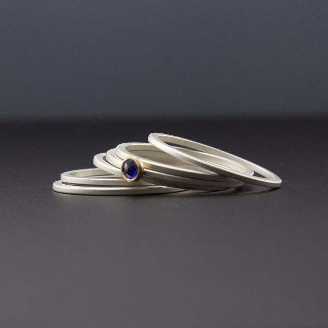 blue sapphire ring set sterling