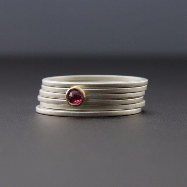 ruby stacking rings