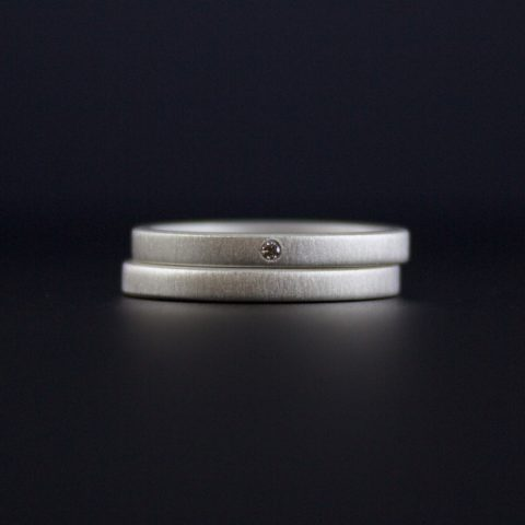 diamond ring set minimalist