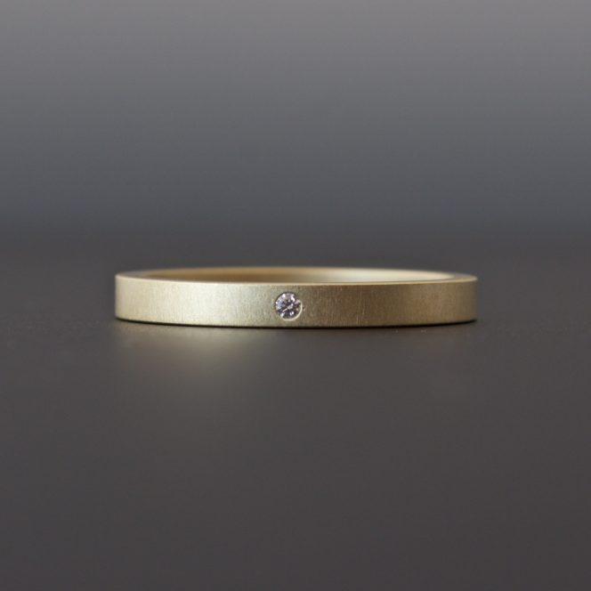 handmade gold diamond ring