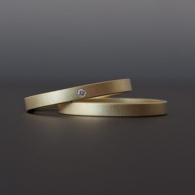 handmade diamond ring set