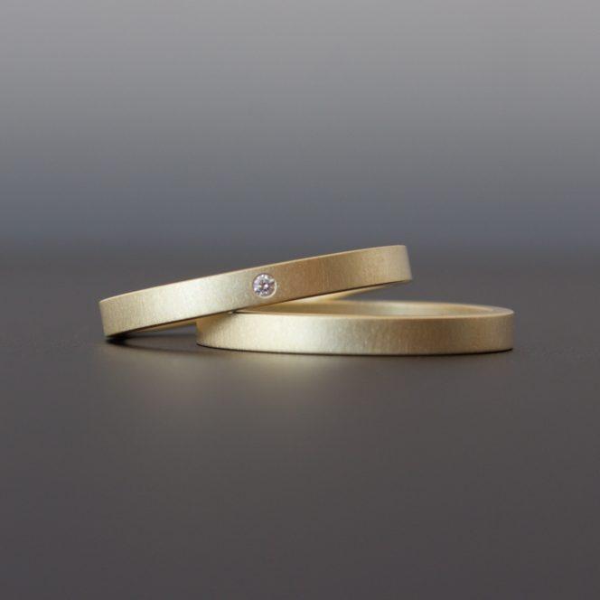artisan handmade gold ring set