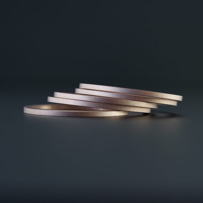 handcrafted rose gold ring set