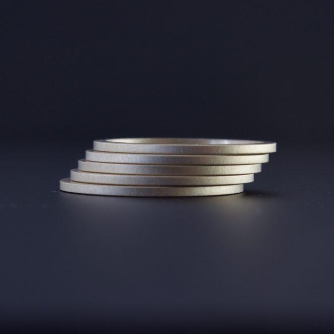 matte finish handmade gold rings